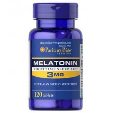 Снотворное Puritan's Pride Melatonin 3 mg (120 таб)