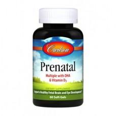 Витамины для Беременных Carlson Prenatal with DHA & Vitamin D3 (60 желкапс)