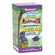 Витамины для Детей Bluebonnet Nutrition Rainforest Animalz Multiple (180 жевательных конфет)