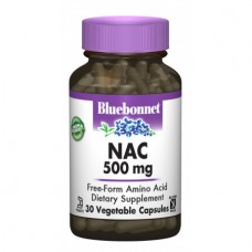 Аминокислоты Bluebonnet Nutrition NAC 500 мг (30 желевых капсул)