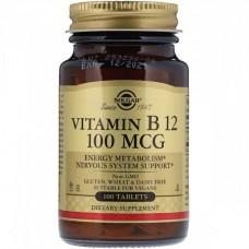 Витамины Solgar Vitamin В-12 100 MCG 100 мкг (100 таблеток)