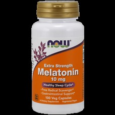 Снотворное NOW Melatonin 10 mg Extra Strength (100 капс)