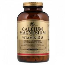 Витамины и минералы Solgar Calcium Magnesium+ Vitamin D3 (300 таблеток)