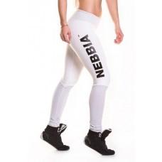 Лосины для фитнеса NEBBIA Heart Butt 280 (Белые)