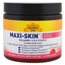 Коллаген + Витамины С&А  Country Life Maxi-Skin Collagen + C & A Powder Vitamin В12 43 (123 г)