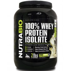 Протеин NutraBio 100% Whey Protein Isolate (907 г)