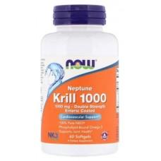 Активное долголетие NOW Krill Oil 1000 double strength (60 капс)