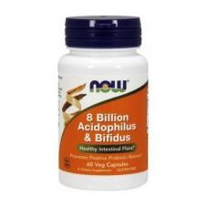 Активное долголетие NOW 8 Billion Acidophilus & Bifidus (120 капс)