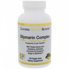 Силимарин Комплекс Расторопша California Gold Nutrition Silymarin Complex 300 мг (120 капсул)
