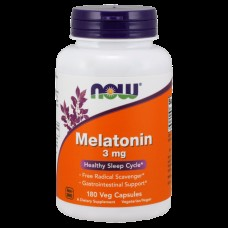 Снотворное NOW Melatonin 3 мг (180 капс)