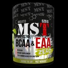 BCAA аминокислоты MST Nutrition BCAA & EAA Zero (520 г)