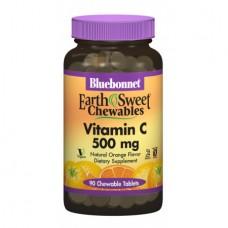 Витамины Bluebonnet Nutrition EarthSweet Chewables Vitamin С 500 мг (90 жевательных таблеток)