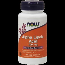 Альфа-липоевая кислота NOW Alpha Lipoic Acid 100 мг (60 капс)