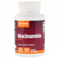 Препарат для расширения кровеносных сосудов Jarrow Formulas Niacinamide В3 250 мг (100 капсул)