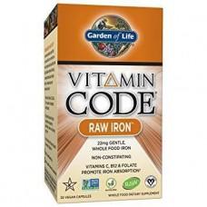 Сырое Железо с Витаминами и Пробиотиками Garden of Life Vitamin Code (30 желевых капсул)