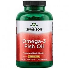 Комплекс незаменимых жирных кислот Swanson Premium Omega 3 Fish Oil Lemon Flavor (150 капс)