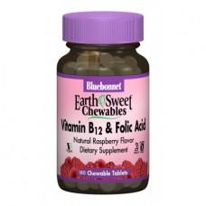 Витамины Bluebonnet Nutrition Earth Sweet Chewables Vitamin В12 & Folic Acid (180 таб)
