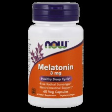 Снотворное NOW Melatonin 3 мг (60 капс)
