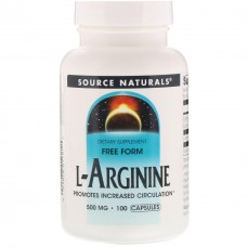 Аргинин Source Naturals L-Arginine 500 мг (100 капсул)