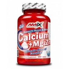 Минеральный комплекс для поддержания здоровья костей и зубов AMIX Calcium + Mg & Zn (100 таб)