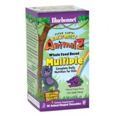 Витамины для Детей Bluebonnet Nutrition Rainforest Animalz Multiple (90 Жевательных Конфет)