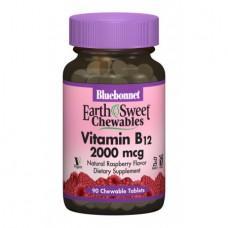 Витамины Bluebonnet Nutrition Earth Sweet Chewables Vitamin В12 2000 мкг (90 жевательных таблеток)