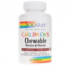 Витамины для детей Solaray Childrens Vitamins & Minerals (120 таб)