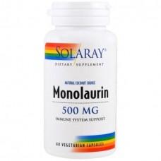 Монолаурин Solaray Monolaurin 500 мг (60 вегетарианских капсул)