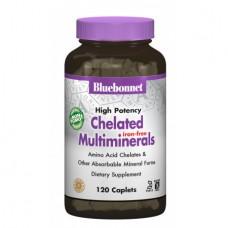 Взаимодействующие Минералы без Железа Bluebonnet Nutrition Albion (120 капсул)