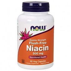 Активное долголетие NOW Flush Free Niacin 500 mg Double Strength (180 капс)