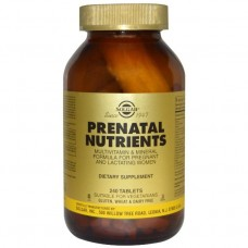 Витамины для беременных женщин Solgar Prenatal Multivitamin + Mineral (240 таб)