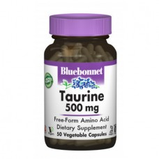 Аминокислоты Bluebonnet Nutrition Taurine 500 мг (50 желевых капсул)
