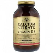Витамины и минералы Solgar Calcium Citrate with Vitamin D3 (240 таблеток)