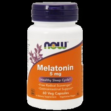 Снотворное NOW Melatonin 5 mg (60 капс)