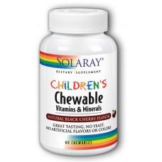 Витамины для детей Solaray Childrens Vitamins & Minerals (60 таб)