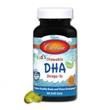 Витамины для беременных женщин Carlson Kid's Chewable DHA (60 желатиновых капсул)