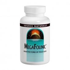 Биоактивная форма фолиевой кислоты В9 Source Naturals MegaFolinic 800 мкг (60 таблеток)