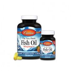Рыбий Жир Carlson The Very Finest Fish Oil (120+30 желатиновых капсул)