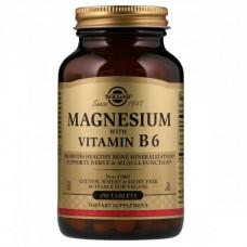 Витамины и минералы Solgar Magnesium with Vitamin В 6 (250 таблеток)