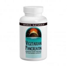 Вегетарианский Панкреатин Source Naturals Vegetarian Pancreatin 475 мг (120 капсул)