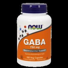Активный стимулятор гормона роста NOW GABA 750 мг (100 капс)