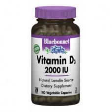 Витамины Bluebonnet Nutrition Vitamin D3 2000 IU (180 желевых капсул)