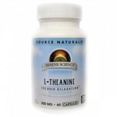 Аминокислоты Source Naturals Serene Science L-Theanine 200 мг (60 капсул)