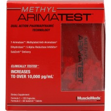Бустеры тестостерона MuscleMeds Methyl Arimatest (120 капс + 60 таб)