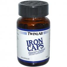 Витамины и минералы Twinlab Iron caps (100 капс)