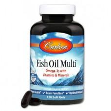 Витамины и Минералы с Омега 3 Carlson Fish Oil Multi (120 желатиновых капсул)