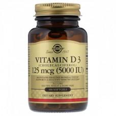 Витамины Solgar Vitamin D3 5000 IU 125 мкг (100 желатиновых капсул)