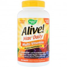 Витамины и минералы Nature's Way Alive! Multi-vitamin Max Potency (180 таб)