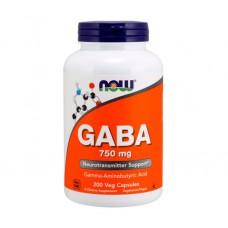 Активный стимулятор гормона роста NOW Foods GABA (750 мг) (200 капс)