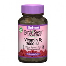 Витамины Bluebonnet Nutrition Earth Sweet Chewables Vitamin D3 2000 IU (90 жевательных таблеток)